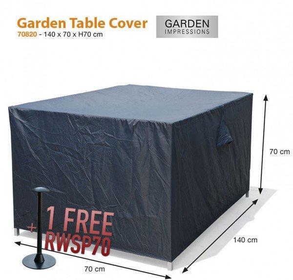 Schutzhülle für Gartentische 140 x 70 H:70 cm