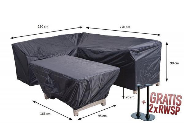 Lounge Dining Set Eckbank und Tischhülle 270 x 210 x 85 H:90 cm