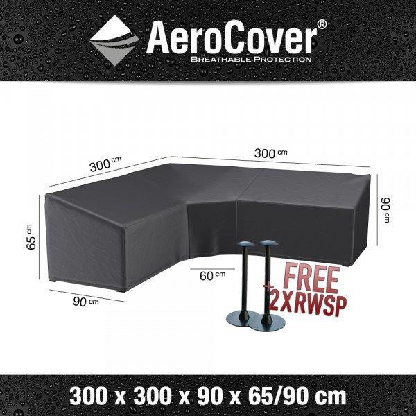 Schutzabdeckung für ein Ecksofa dining model 300 x 300 H: 90/65 cm