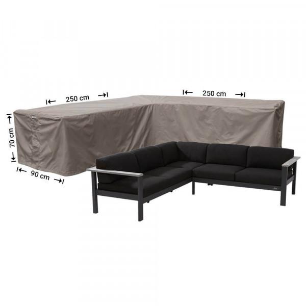 Abdeckung für Lounge Eckset 250 x 250 x 90 H: 70 cm