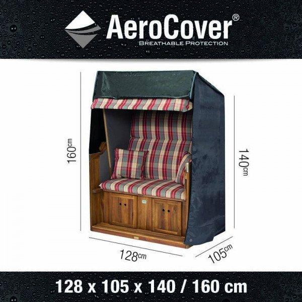 AeroCover-Abdeckhaube für Strandkörbe 128 x 105 H: 160/115 cm
