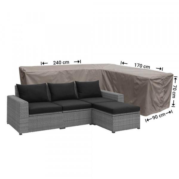 Schutzhülle lounge sofa L-Form 240 x 170 x 90 H: 70 cm
