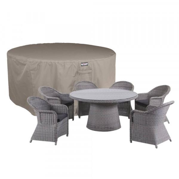 Abdeckhaube für runder Tisch mit Gartenstühle Ø 205 H: 85 cm