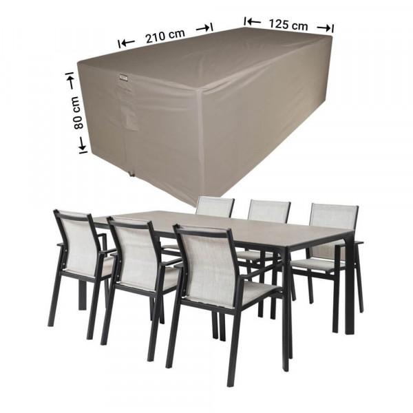 Abdeckhaube für rechteckige Möbelset 210 x 125 H: 80 cm