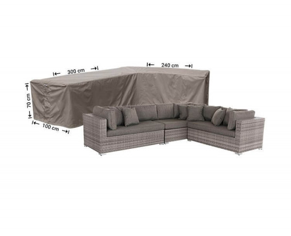 Lounge Sofa Abdeckschutz L-Form 300 x 240 x 100 H: 70 cm