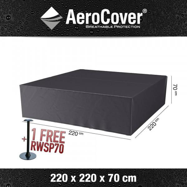 Abdeckung für quadratisches Lounge-Set 220 x 220 H: 70 cm