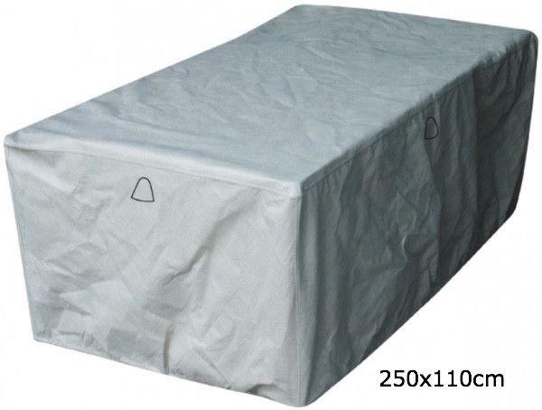 Wetterschutz für rechteckige Gartentisch 250 x 110 H: 75 cm