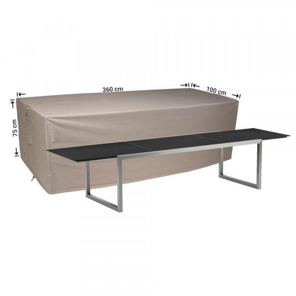 Schutzhülle für rechteckige Gartentisch 360 x 100 H: 75 cm