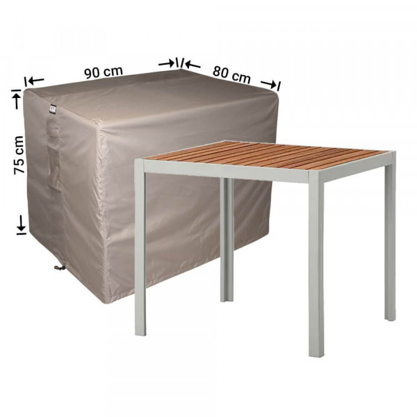Schutzabdeckung für Gartentisch 90 x 80 H: 75 cm