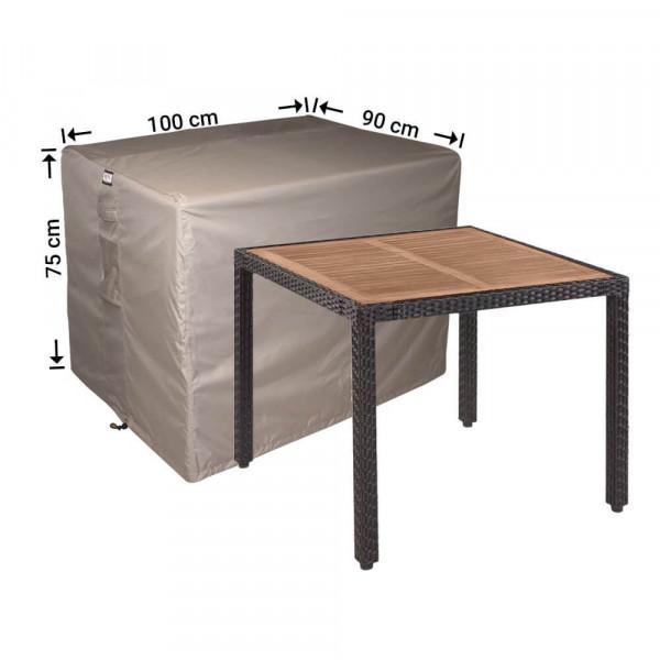 Abdeckung für Gartentisch 100 x 90 H: 75 cm