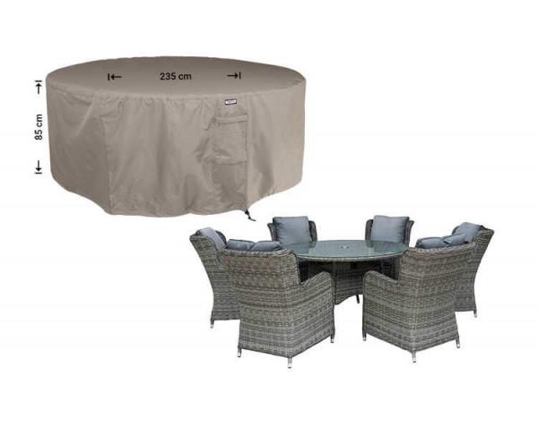 Abdeckung für runden Gartentisch mit Stühlen Ø 235 H: 85 cm