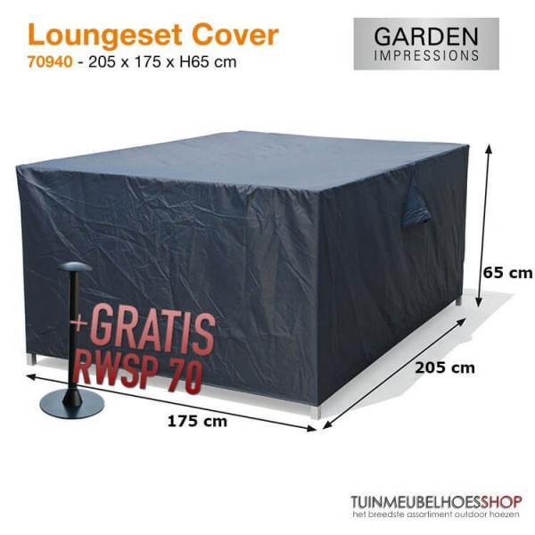 Lounge-Set-Hülle rechteckig 205 x 175 H:65 cm