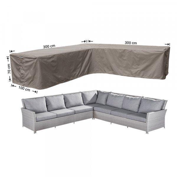 Loungemöbel L-Form Wetterhaube 300 x 300 x 100 H: 70 cm