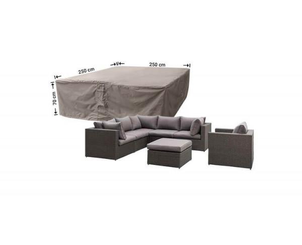 Schutzhülle für Rattan Lounge Gartenmöbel 250 x 250 H: 70 cm