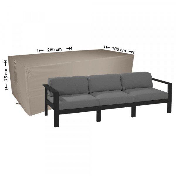 Wetterschutzhülle für rechteckige Sofa 260 x 100 H: 75 cm