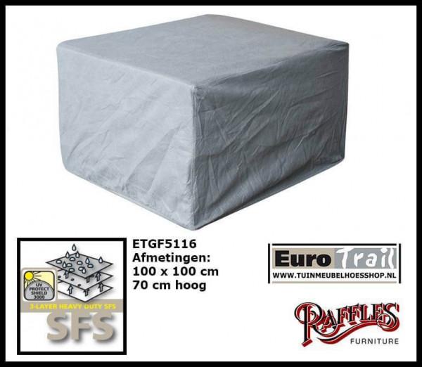 Schutzhülle für Rattan Lounge Sessel 100 x 100 H: 70 cm
