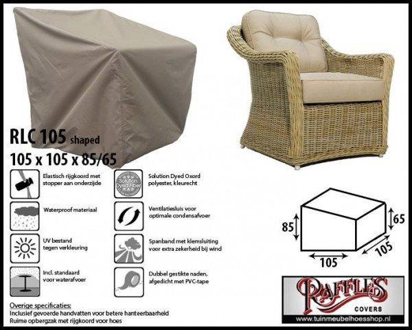 Schutzhülle für Lounge Sessel 105 x 105 H: 85/65 cm
