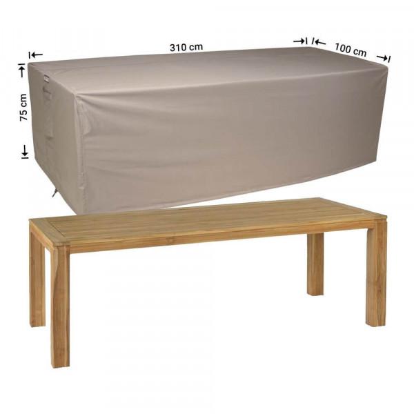Wetterschutz für Gartentisch 310 x 100 H: 75 cm