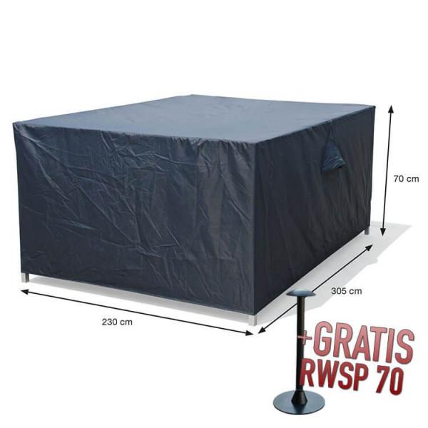 Lounge-Set-Hülle rechteckig 305 x 230 H:70 cm
