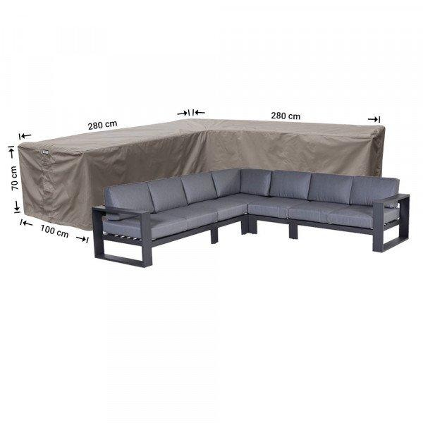 Eck-Lounge-Hülle L-form 280 x 280 x 100 H: 70 cm